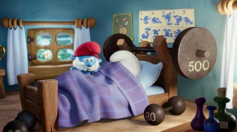 The blue-skinned forest gnomes discover an unknown village