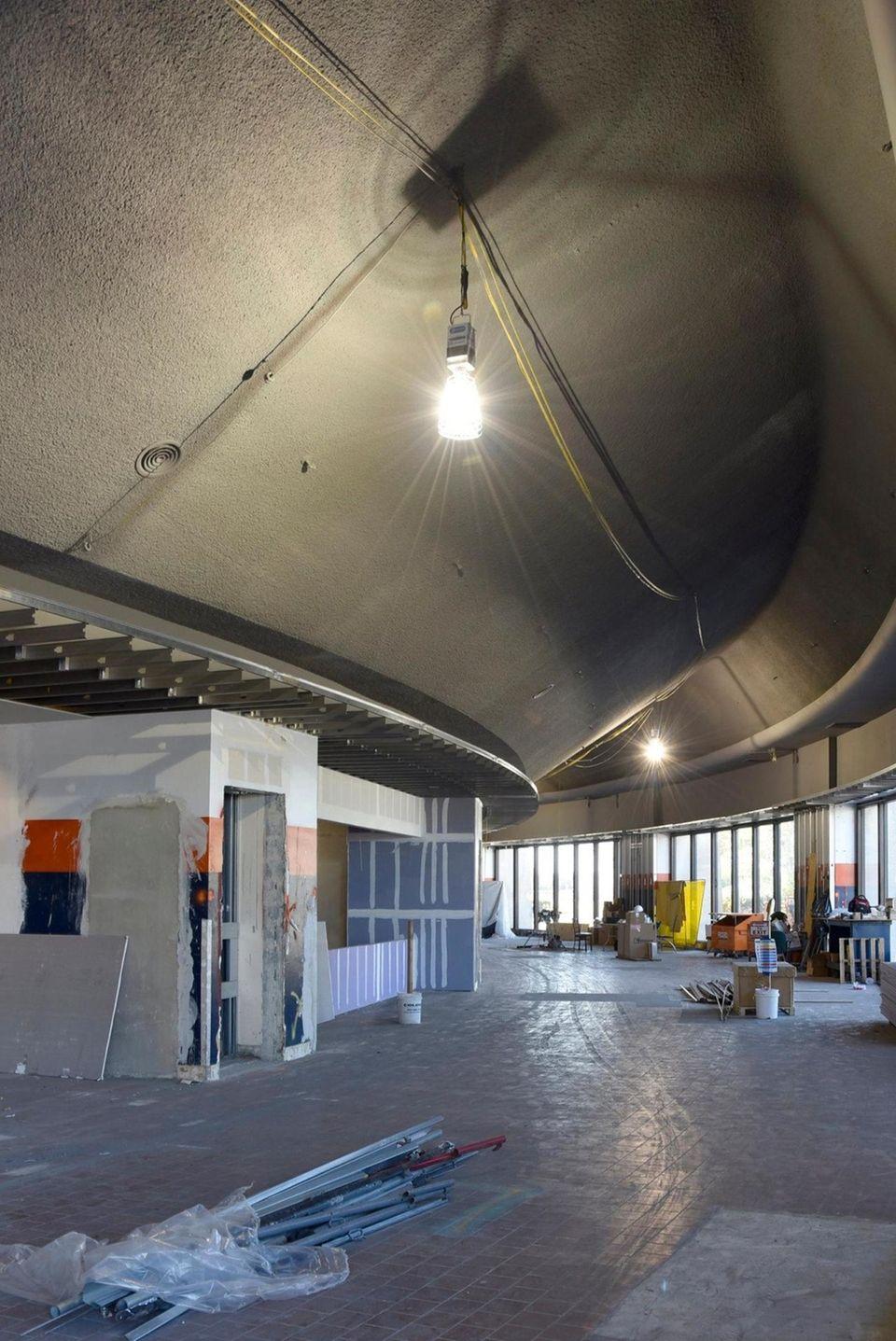 The Nassau Veterans Memorial Coliseum is undergoing renovation