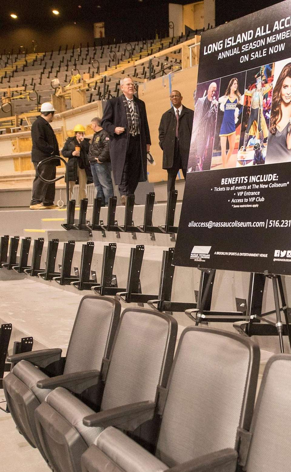 The first seats at renovated Nassau Coliseum unveiled