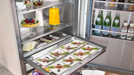 BlueStar debuted its first refrigerator, available in 750