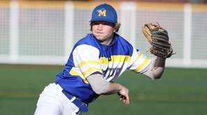 Mattituck's Matt Heffernan (22) throws to first in