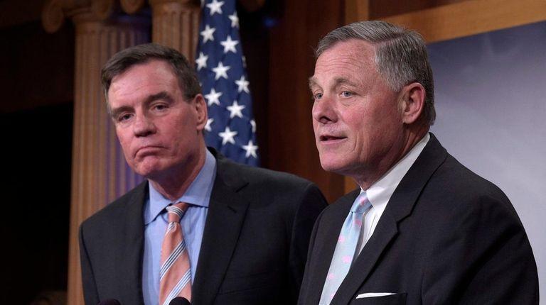 Senate Intelligence Committee Chairman Richard Burr, right, and