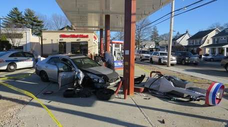 Officials said two suspects inside a getaway car
