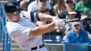 New York Yankees' Aaron Judge homers in the