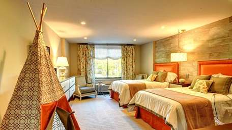 Kelly Dall Interior Design created this bedroom at