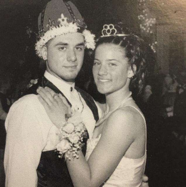 The Patchogue-Medford High School king and queen, Dominick