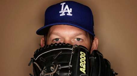 Los Angeles Dodgers' Clayton Kershaw poses during the