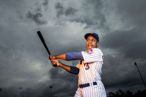 Mets outfielder Curtis Granderson poses during photo day,