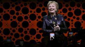 Former Secretary of State Hillary Clinton delivers the