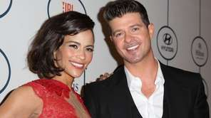 Actress Paula Patton and singer Robin Thicke have