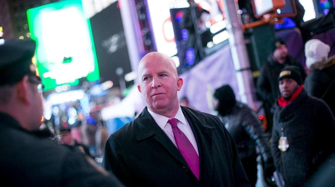 NYPD Commissioner James O'Neill, in Times Square on