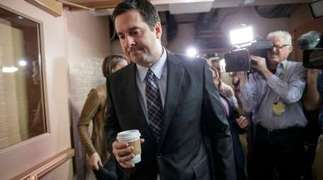 House intelligence committee chairman Devin Nunes is pursued