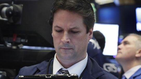 Trader Patrick McKeon works on the floor of
