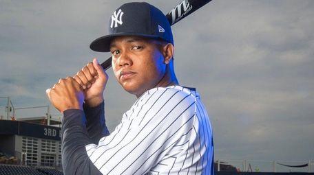 Yankees infielder Starlin Castro at spring training.