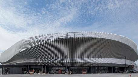 The new Nassau Coliseum in Uniondale, as seen
