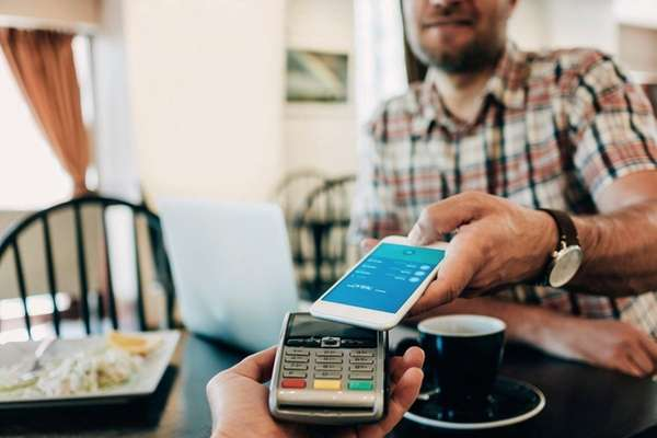Using a smartphone to do banking is becoming
