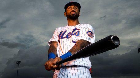 New York Mets infielder Jose Reyes poses during