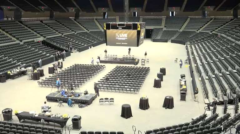 A renewed Nassau Coliseum was opened officially Friday,