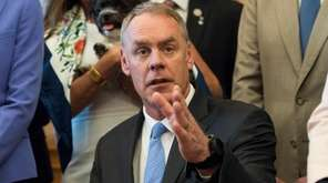 Interior Secretary Ryan Zinke speaks at the Interior