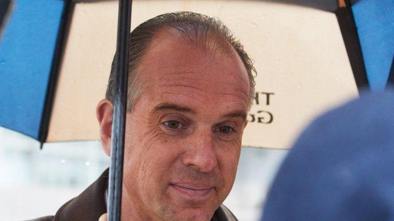 Hempstead Town Council member Edward Ambrosino talks to