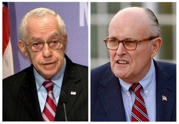 Former New York Mayor Rudy Giuliani, right, and