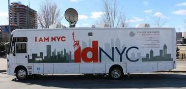 An IDNYC mobile van is intended to make