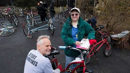 Gary Michael, collection coordinator for Pedals for Progress,