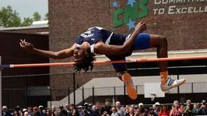 Stony Brook's Jyles Etienne won the high jump
