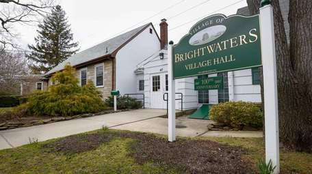 The Village of Brightwaters Village Hall is shown