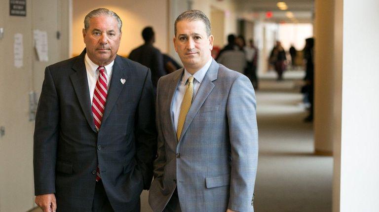 Defense Attorneys David Besso, left, and Daniel Russo