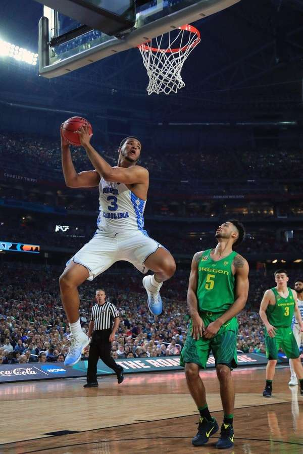 Kennedy Meeks of North Carolina grabs the