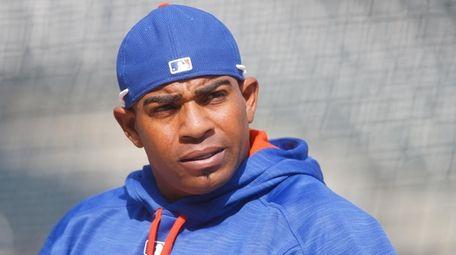 New York Mets left fielder Yoenis Cespedes (52)