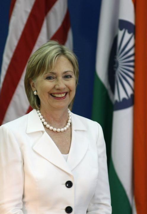 U.S. Secretary of State Hillary Rodham Clinton smiles