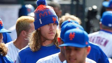 New York Mets starting pitcher Noah Syndergaard, No.