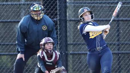 Shoreham-Wading River's Joy Papaganopollus #8 watches her home