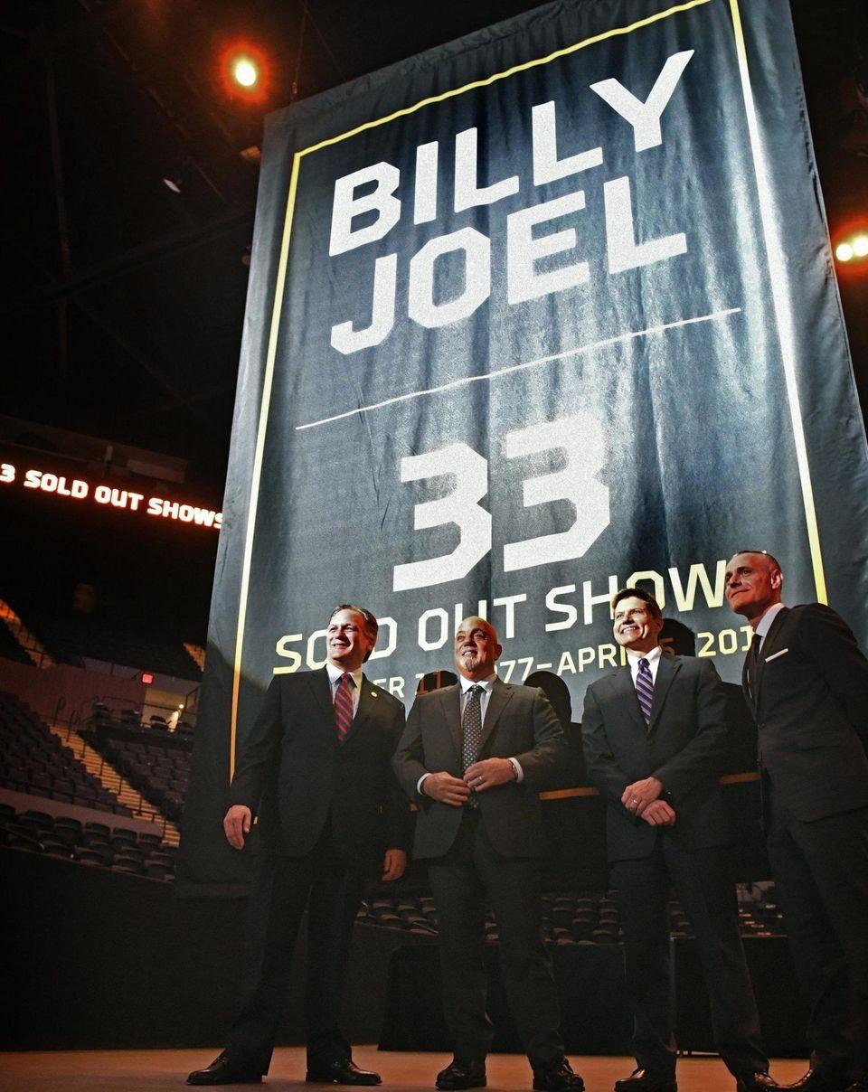 Nassau County Executive Edward Mangano, Billy Joel, Andrew