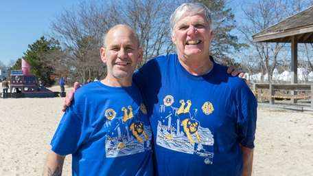 Richard May, 59, from Patchogue, left, and Dennis