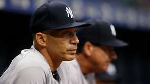 Manager Joe Girardi #28 of the New York