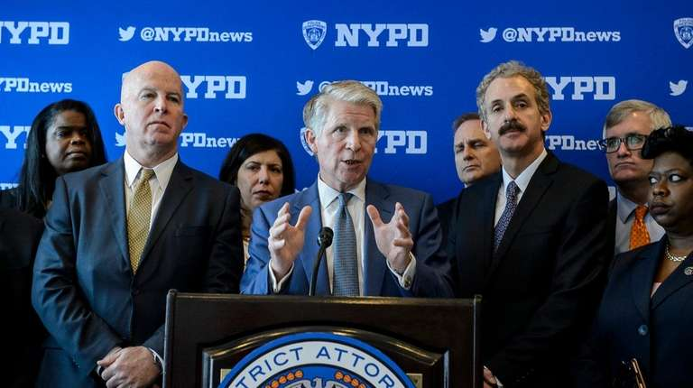 Manhattan District Attorney Cyrus R. Vance Jr., speaks