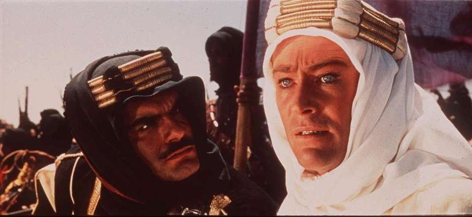 Cast: Peter O'Toole, Alec Guinness, Anthony Quinn, Omar