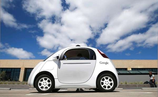 A Google self-driving test vehicle on May 13,