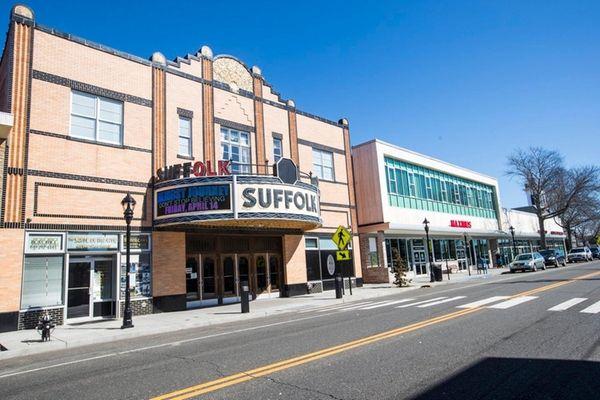 The historic Suffolk Theater on East Main Street