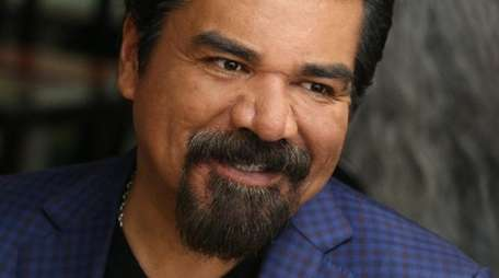 Comedian George Lopez takes time out from his