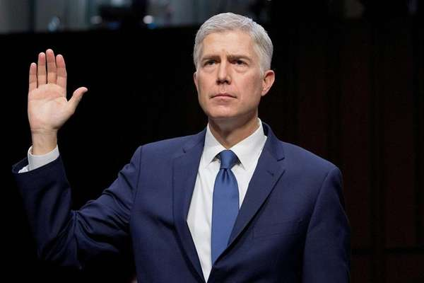 Judge Neil Gorsuch during his confirmation hearings before