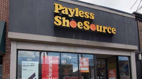Payless ShoeSource on Main Street in Patchogue, April