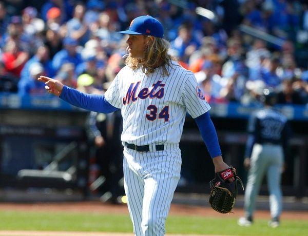 New York Mets pitcher Noah Syndergaard left his