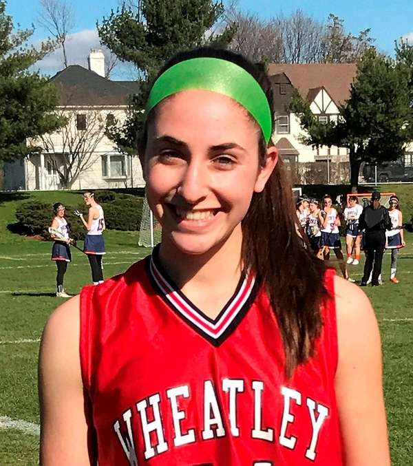Wheatley girls lacrosse player Sami Rothstein notched a