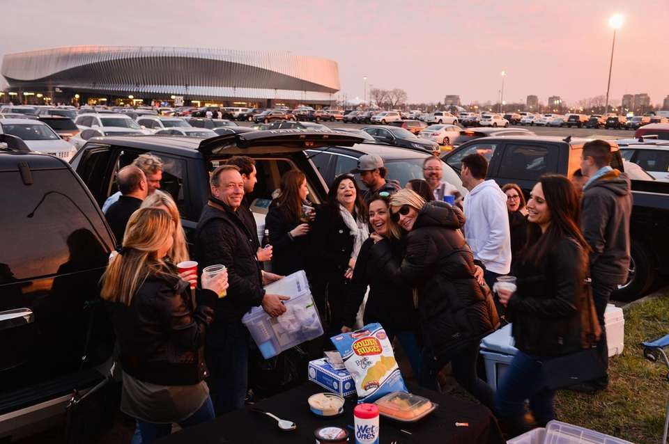 Friends from Point Lookout, Merrick and Lindenhurst tailgate