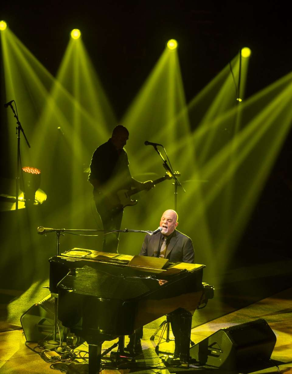Billy Joel performs on the opening night for