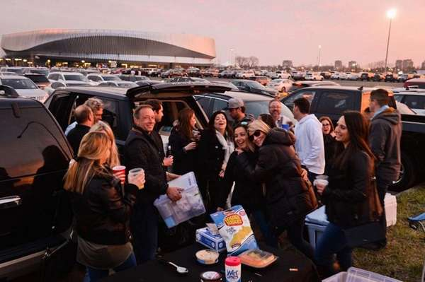 Friends from Point Lookout, Merrick, and Lindenhurst tailgate